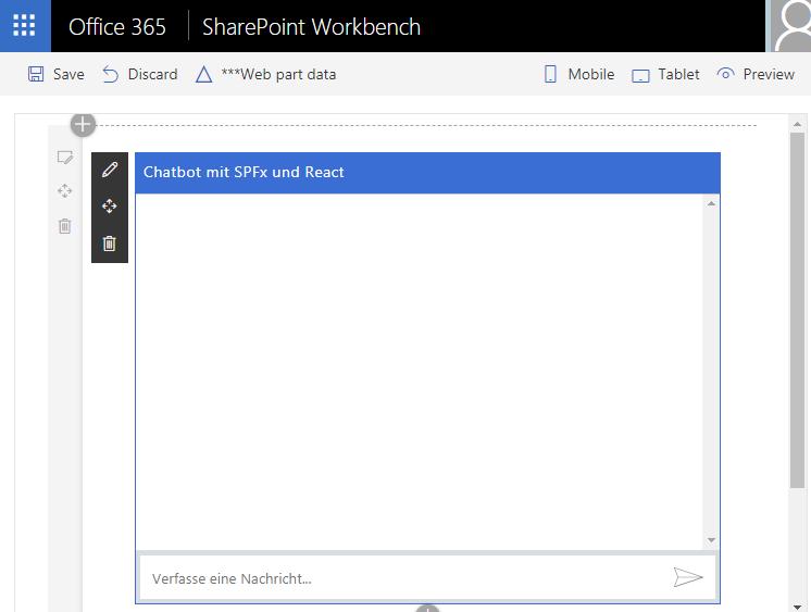 Azure Chatbot auf Modern Site (SharePoint) im Office 365